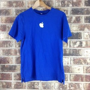 Shirts - Apple Mac Store Blue Employee Embroidered Shirt S